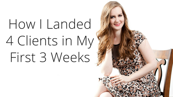 How I landed my first four clients | Gillian Perkins