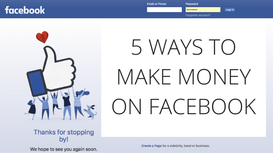 5 ways to make money on Facebook   How to earn money on Facebook
