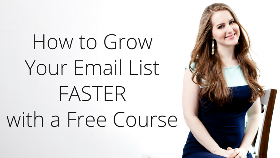 how to grow your email list with a free email course
