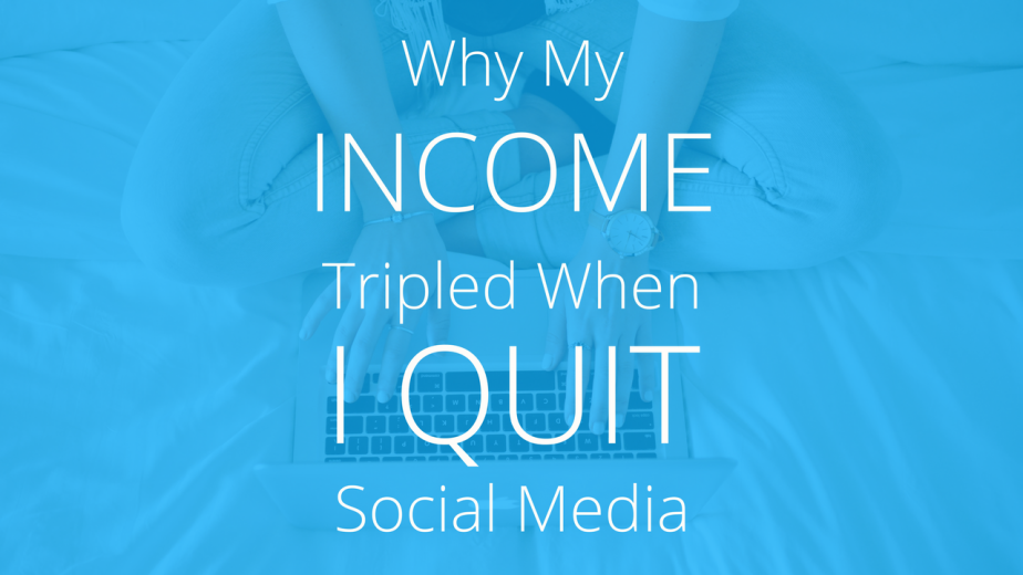 I was posting on social media every day (on at least 4 platforms) when I finally realized that it wasn't doing much of ANYTHING for my business. I wasn't getting much blog traffic, it wasn't really driving sales, and overall it was just a huge time suck. Accordingly, I made some massive changes in how I market my online business -- and the results were more than I possibly could have hoped for.